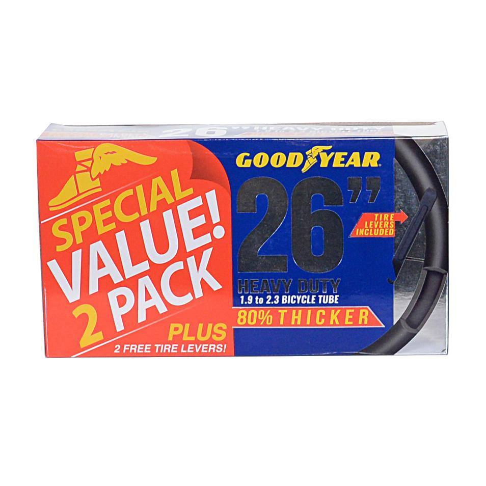 "Goodyear 26"" x 1.9"" - 2.3"" Heavy Duty Tube - 2 Pack"