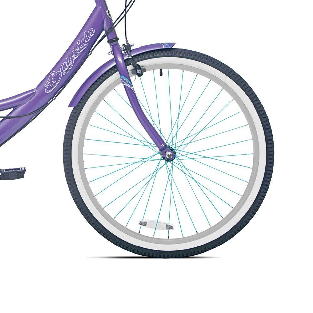 Front Wheel Black and Silver - Light Blue Stokes