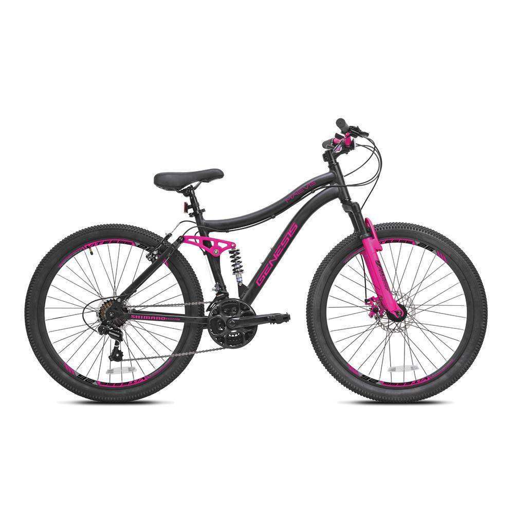 "26"" Women's Genesis Maeve - Black & Pink Mountain Bike"