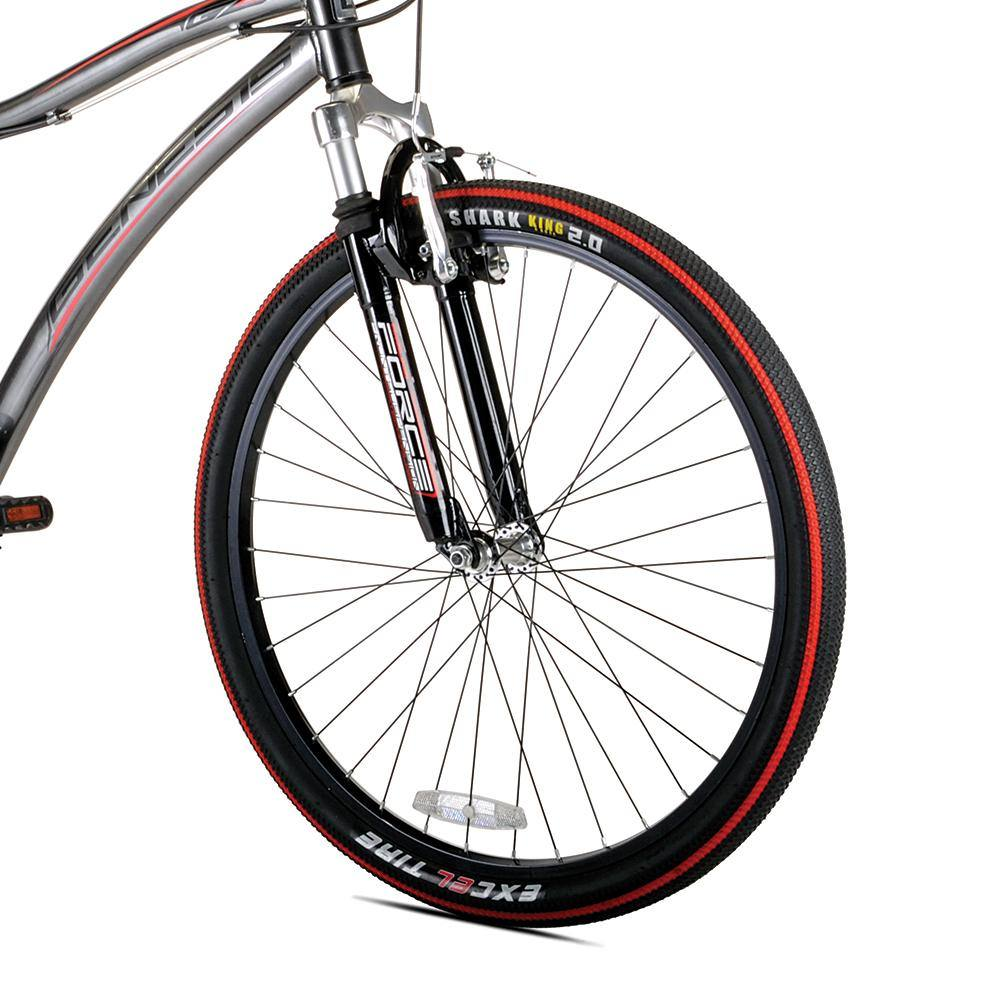 Black and Silver Suspension Fork