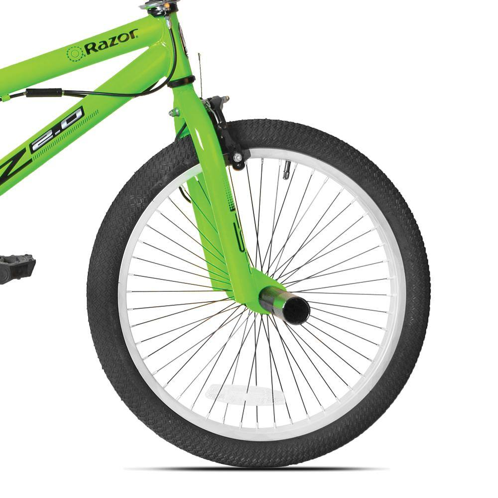 "20"" Kid's Green Freestyle Fork Threaded Steel"