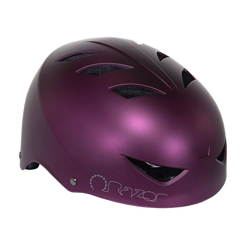 Razor Satin Plum Adult Helmet