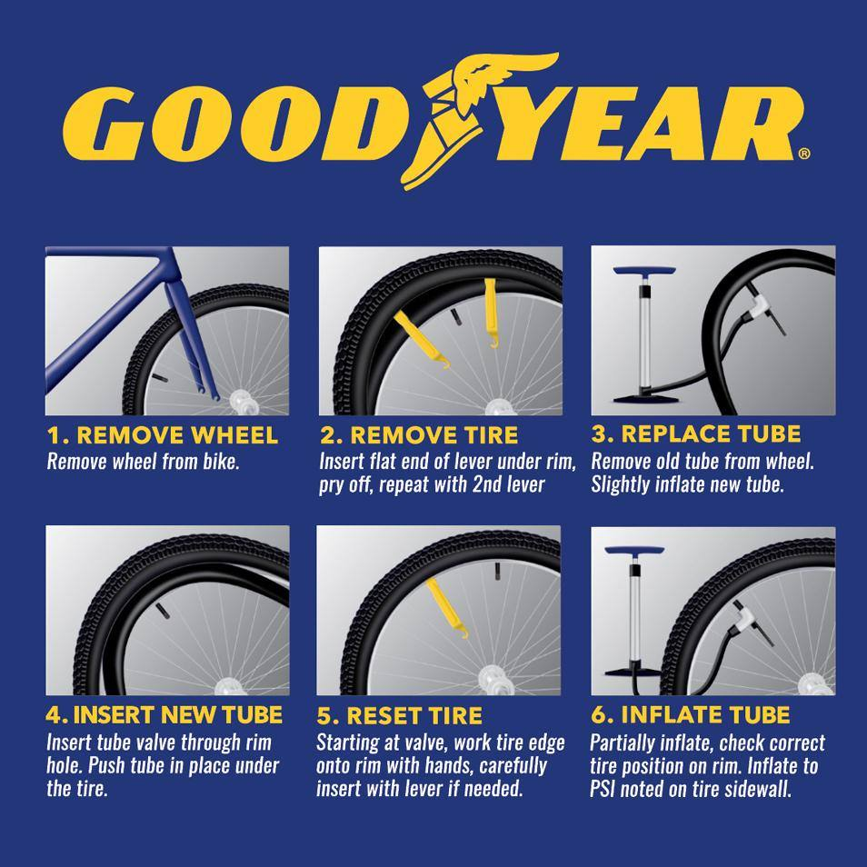 "Goodyear 20"" x 1.75""-2.125"" Heavy Duty Bike Tube - 2 Pack"