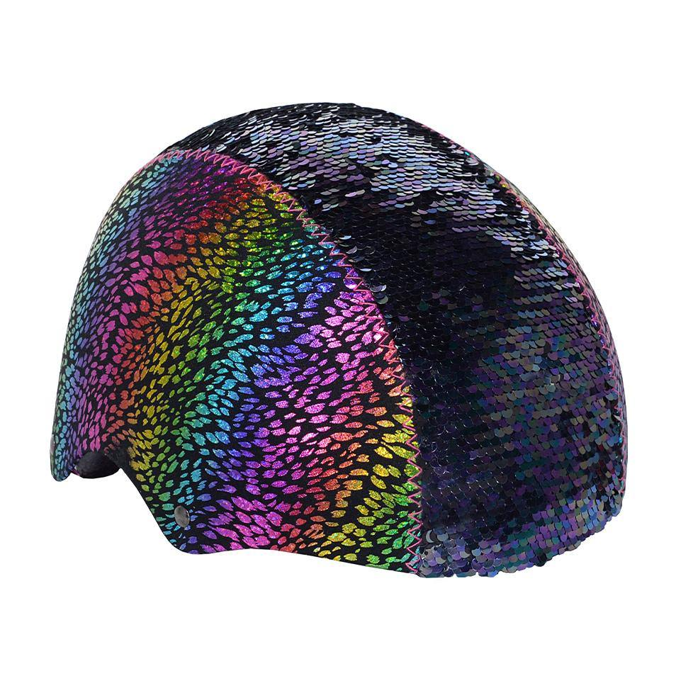 LittleMissMatched Rainbow Dragon Magic Sequin Multi-Sport Child's Helmet