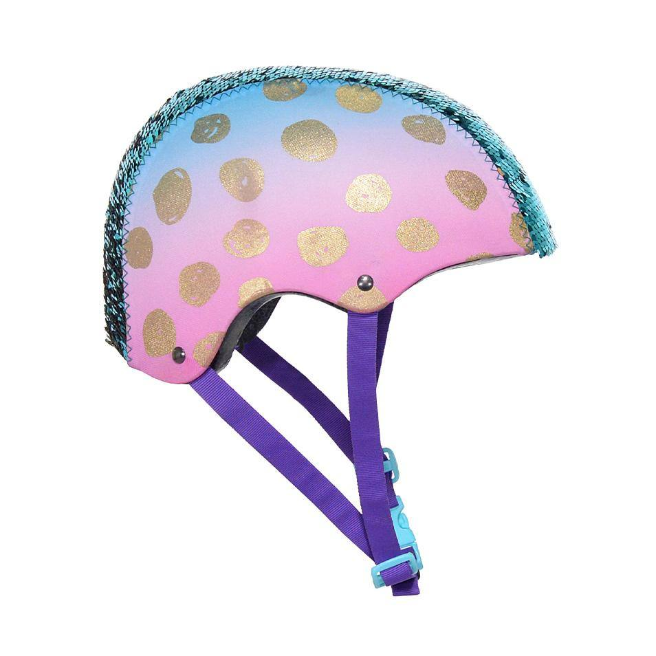 LittleMissMatched Gold Dots Magic Sequin Multi-Sport Child's Helmet