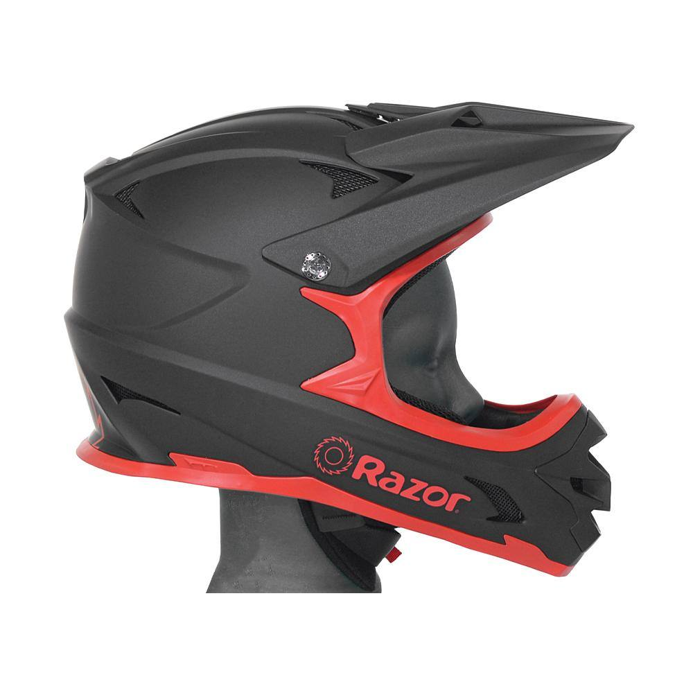 Razor Red & Black Matte Full Face Multi-Sport Youth Helmet