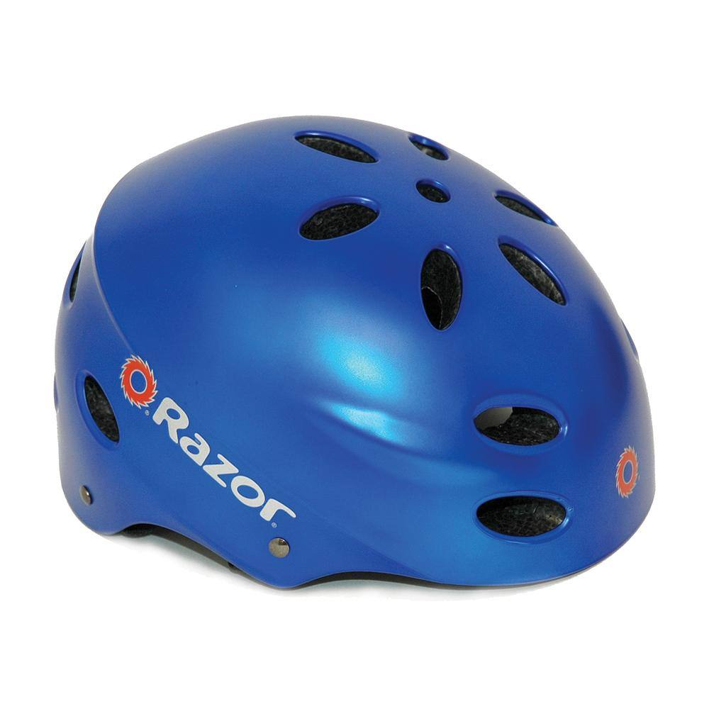 Boy's Razor Satin Blue Child Helmet
