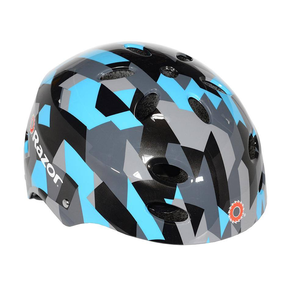 Razor Blue Geo Child Helmet