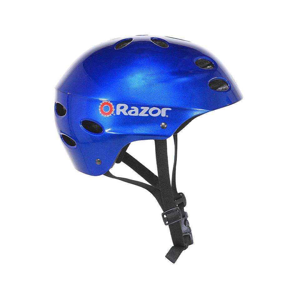 Razor Gloss Blue Youth Helmet