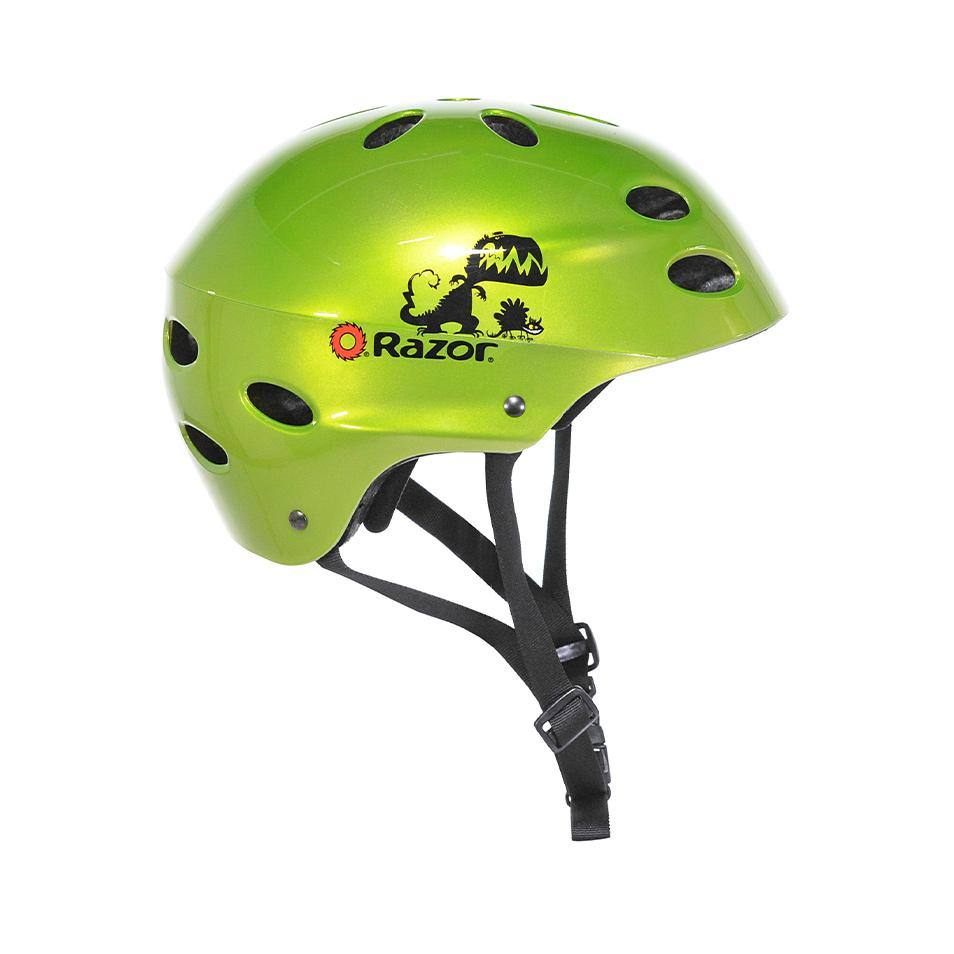 Razor Gloss Green Dino Child Helmet
