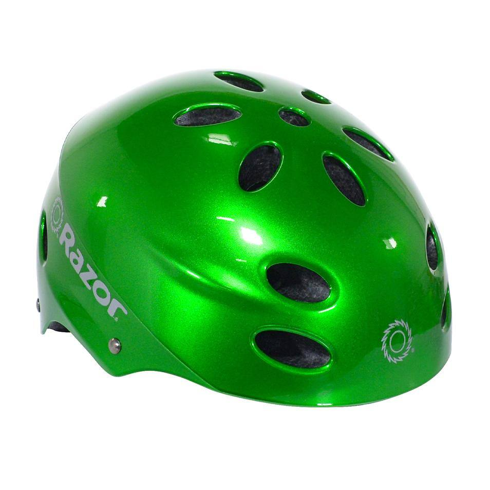 Razor Gloss Chaos Green Youth Helmet