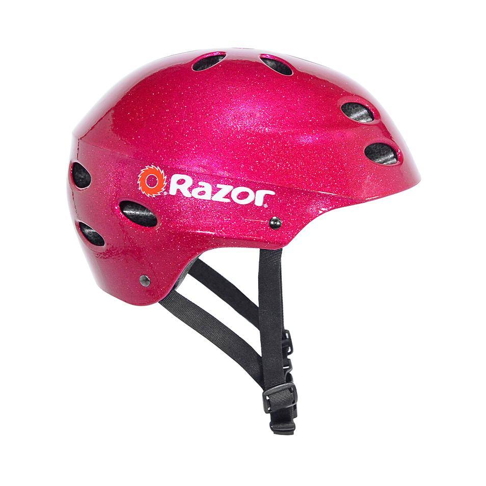 Girl's Razor Magenta Sparkle Youth Helmet