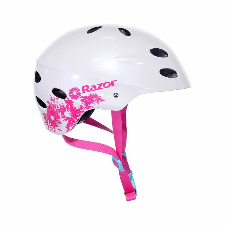 97893 Razor Pearl White w/Daisies Child Helmet