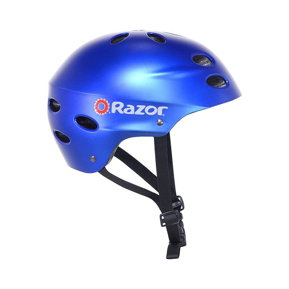Razor Satin Blue Child Helmet - Boy's
