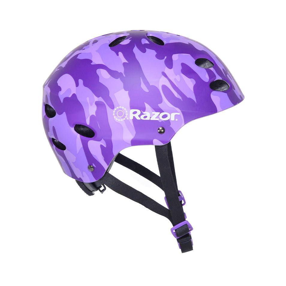 Razor Camo Satin Purple Youth Helmet