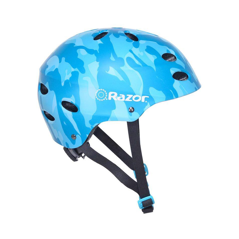 Girl's Razor Camo Satin Teal Youth Helmet