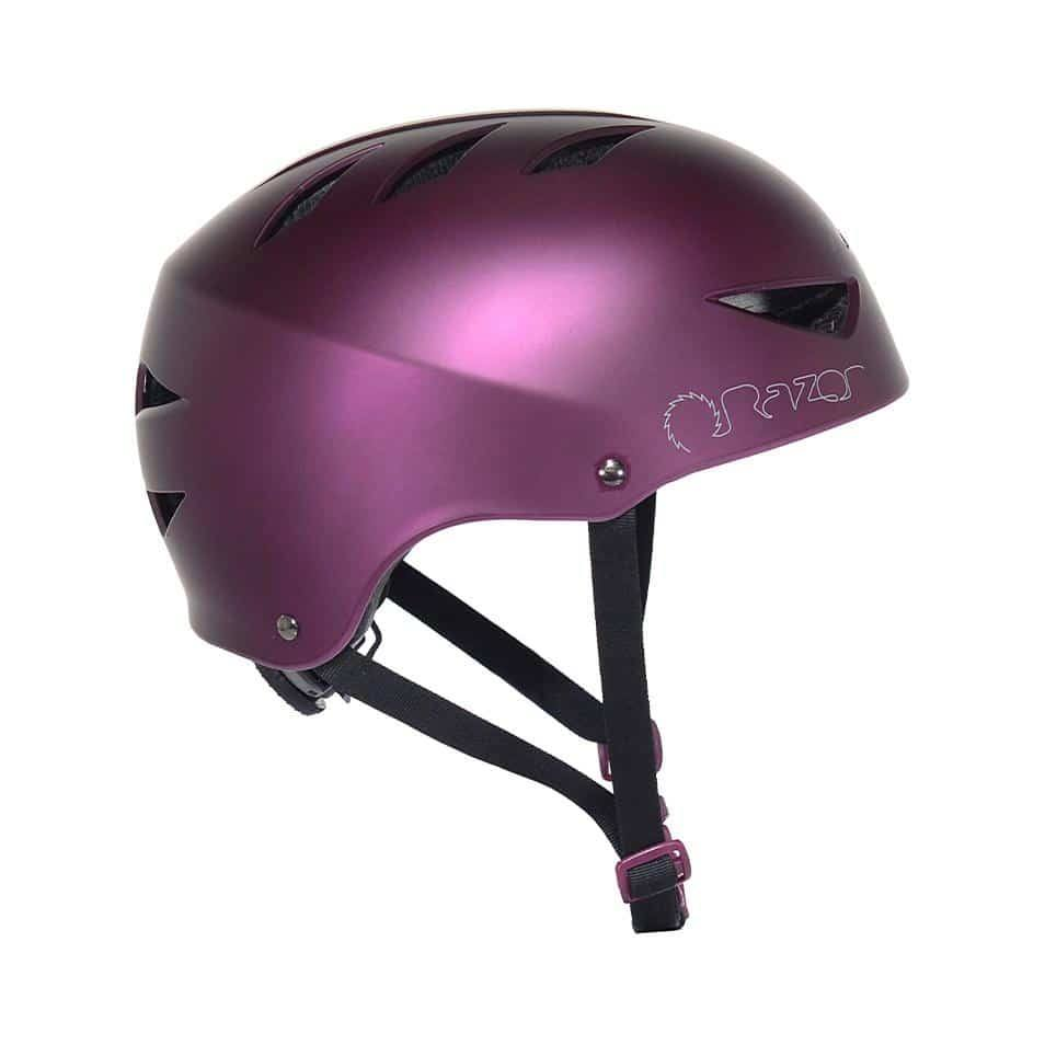 97865 Razor Satin Plum Adult Helmet