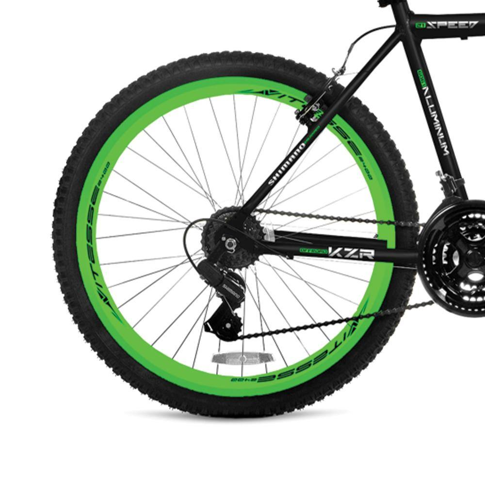 Rear Wheel Black and Green