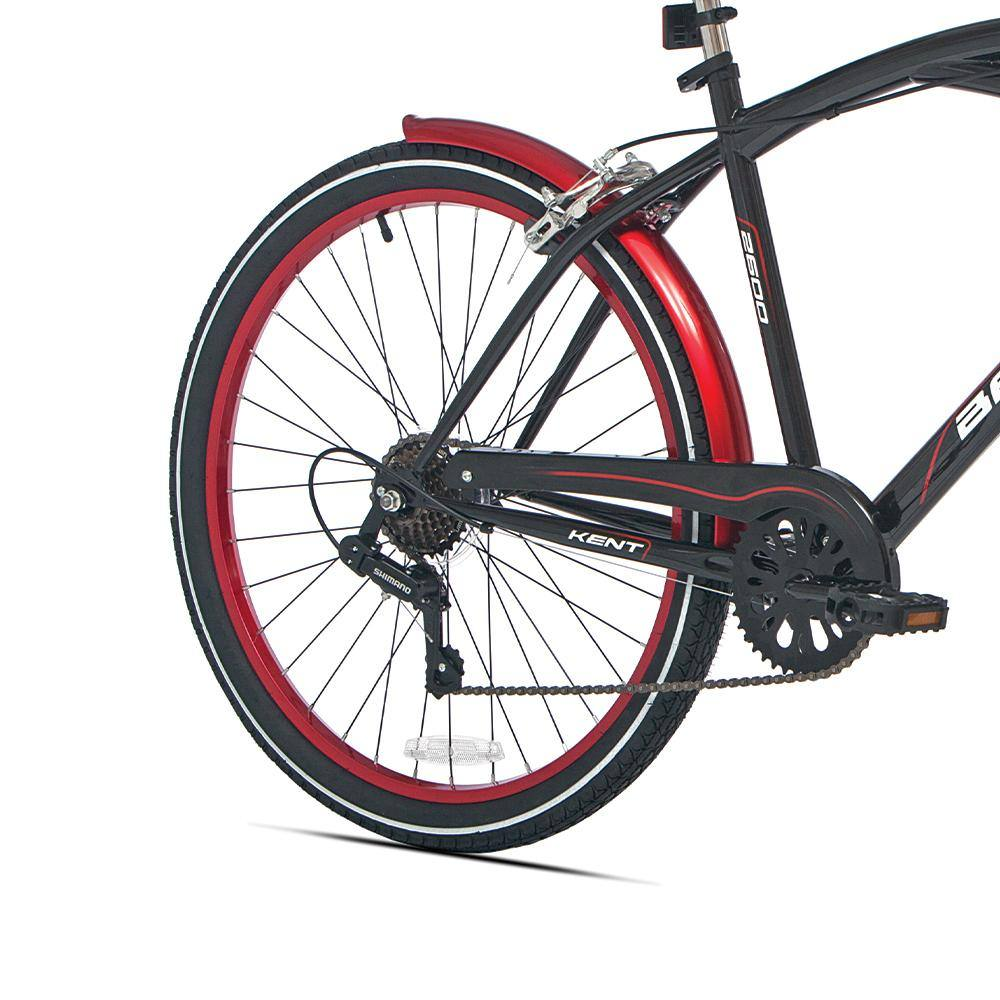 Rear Wheel Black and Red - Thin Red