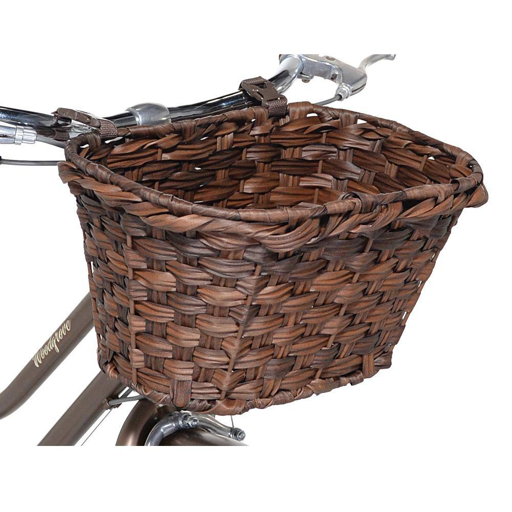 Brown woven bike basket - attachable