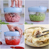 Manual Pull Rope Vegetable Garlic Cutter