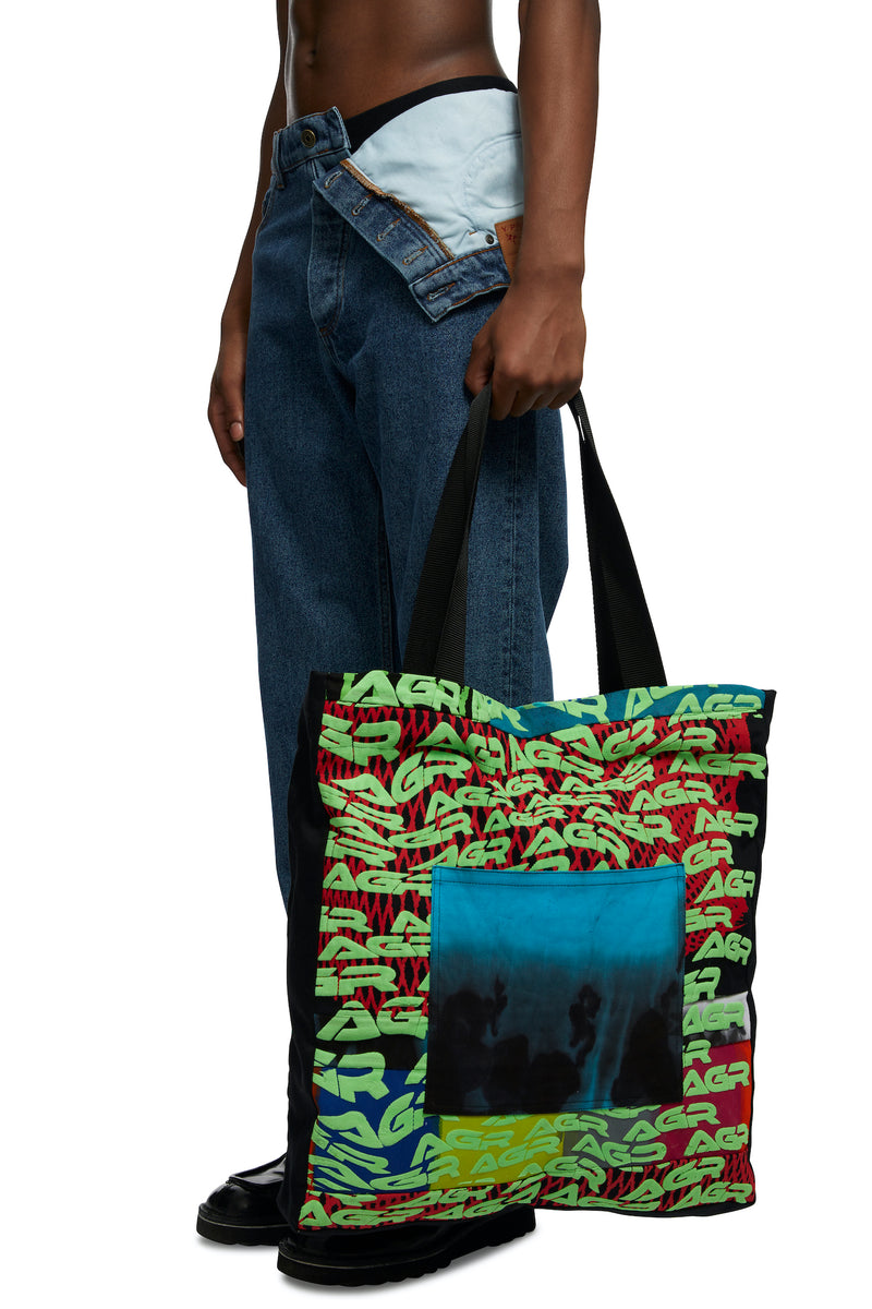 HTOWN, AGR, AGR MENSWEAR, HTOWN AGR, AGR TOTE BAG, AGR TOTE, PATCHWORK TOTE, TIE-DYE TOTE, AGR PATCHWORK, AGR BAG, ONDON DESIGNER, LONDON BOUTIQUE, SPRING SUMMER 2021, SS21, LUXURY DESIGNER, LUXURY FASHION, MEN'S LUXURY TOTE BAG, LUXURY TOTE, LUXURY BAG
