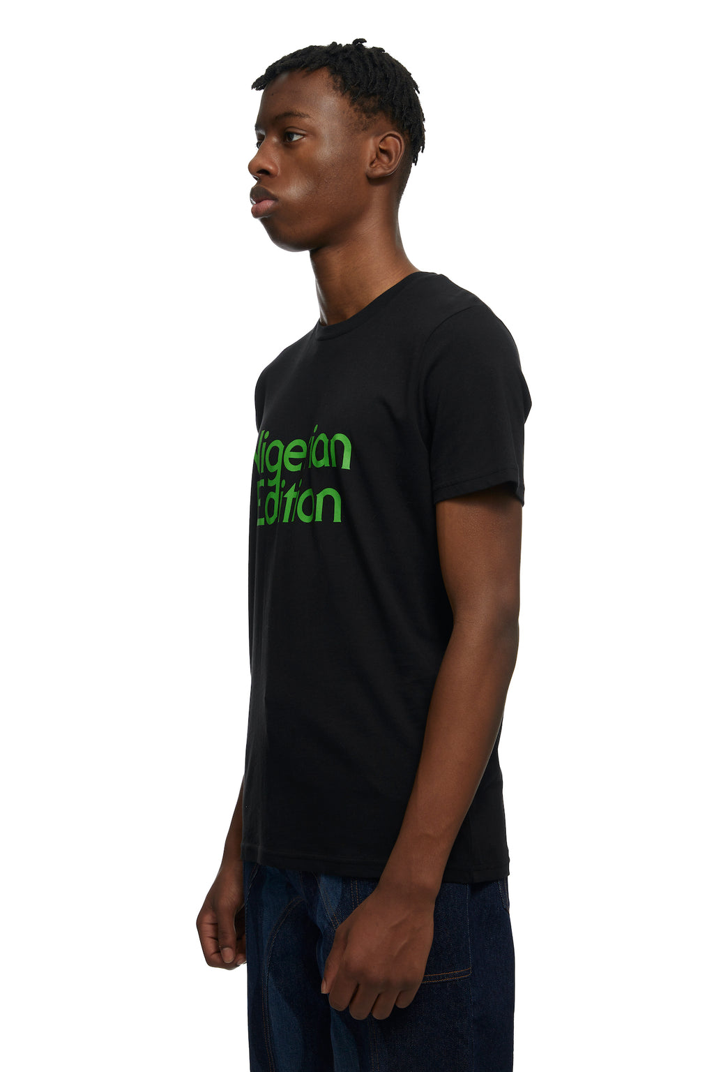 HTOWN, AHLUWALIA, AHLUWALIA MENSWEAR, HTOWN AHLUWALIA, AHLUWALIA NIGERIAN EDITION T-SHIRT, NIGERIAN EDITION T-SHIRT, AHLUWALIA T-SHIRT, NIGERIAN T-SHIRT, ORGANIC COTTON COTTON, ORGANIC T-SHIRT, LONDON DESIGNER, LONDON BOUTIQUE, SPRING SUMMER 2021, SS21, LUXURY DESIGNER, LUXURY FASHION, MEN'S LUXURY PRINTED T-SHIRT, LUXURY T-SHIRT, LUXURY PRINTED T-SHIRT, LUXURY ORGANIC T-SHIRT