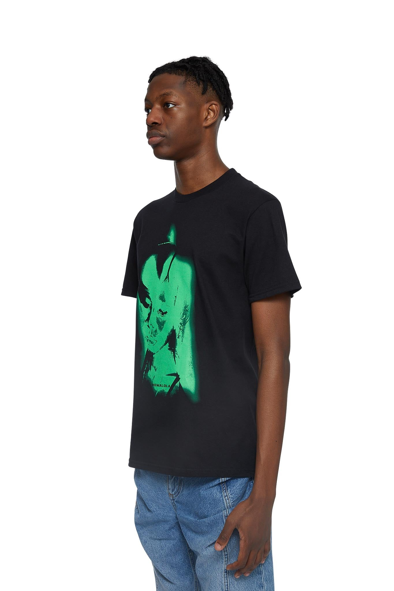 mowalola, another man's wife tee, BLACK / GREEN, AW20M04, T-SHIRT, AW20, GRAPHIC, MENS, PRINT, T-SHIRT