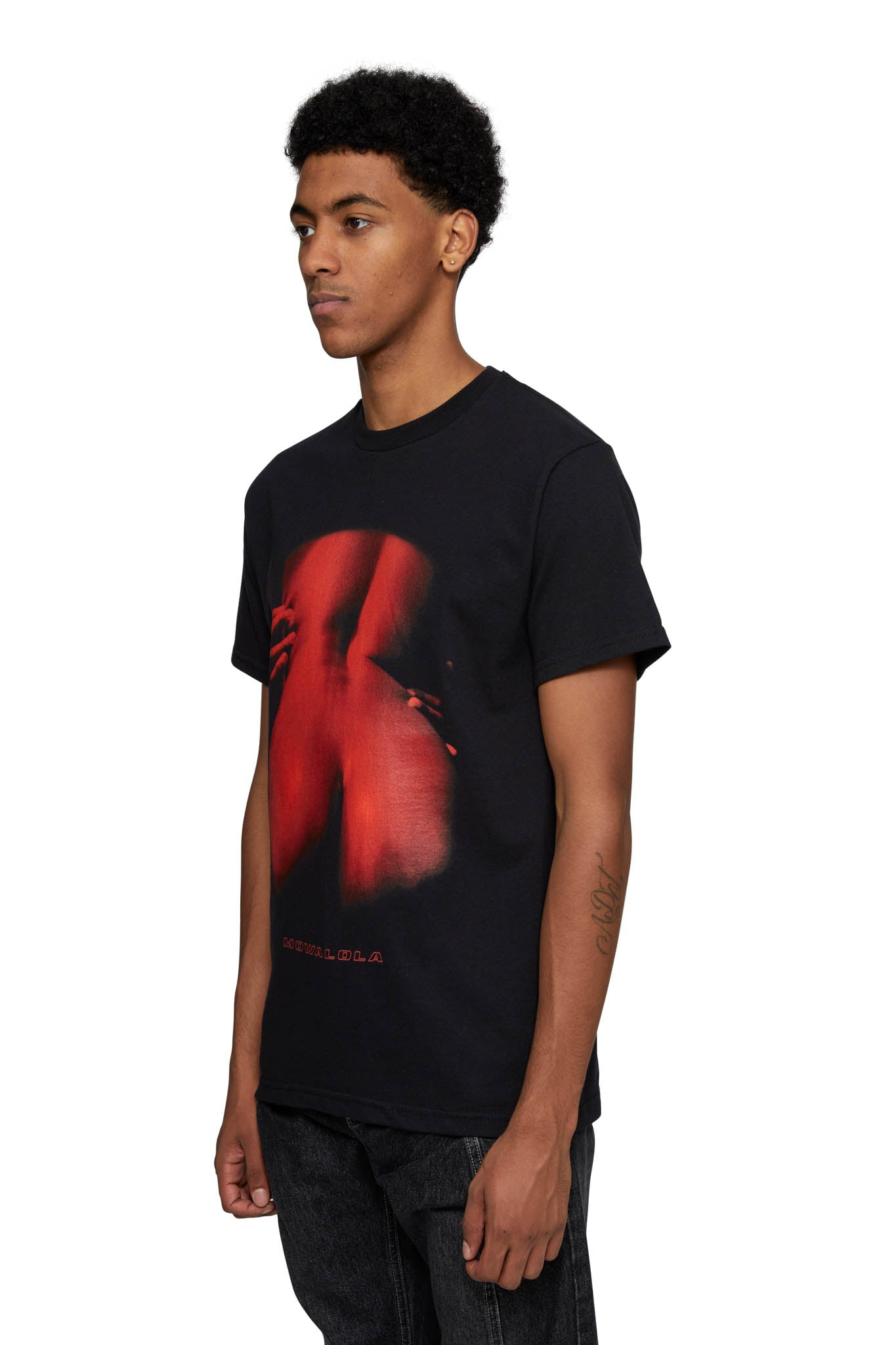MOWALOLA, HEAT TEE, BLACK / RED, AW20M09, AW20, GRAPHIC, MENS, PRINT, T-SHIRT