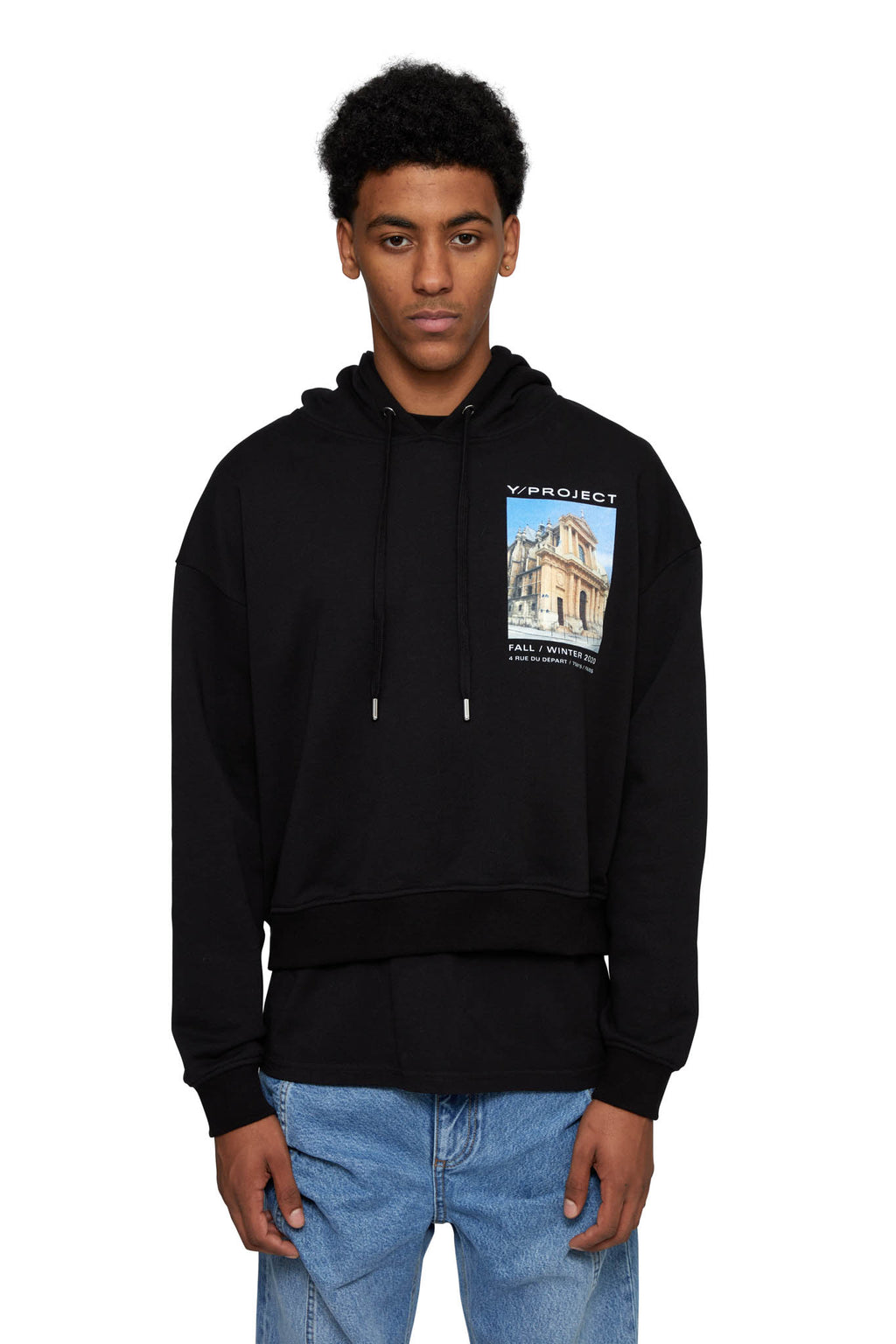 HTOWN, Y/PROJECT, Y/PROJECT MENSWEAR, HTOWN Y/PROJECT, Y/PROJECT PRINTED SHOW HOODIE, Y/PROJECT HOODIE, Y/PROJECT PRINTED HOODIE, Y/PROJECT SHOW, PRINTED HOODIE, HOODIE, 100% COTTON, FRENCH DESIGNER, LONDON BOUTIQUE, AUTUMN WINTER 2020, AW20, LUXURY DESIGNER, LUXURY FASHION, MEN'S LUXURY HOODIE, LUXURY HOODIE, HTOWN EXCLSUIVE, Y/PROJECT EXCLSUIVE