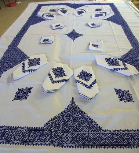 Moroccan Embroidered Table Linens