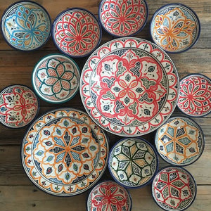 Moroccan Ceramics - Colorful plates