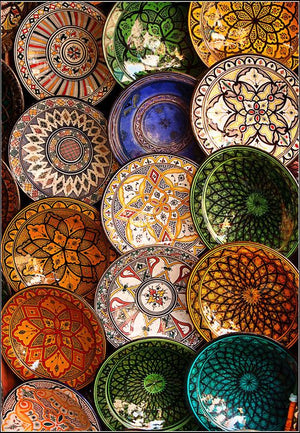 Moroccan Plates - Colorful