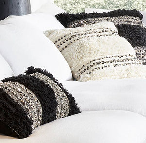 Moroccan Pillow - Wedding - Black&White