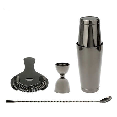 Leopold media oruga cocktail shaker set black