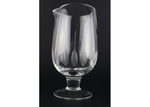 Mixing glass 30 oz pluma grabada