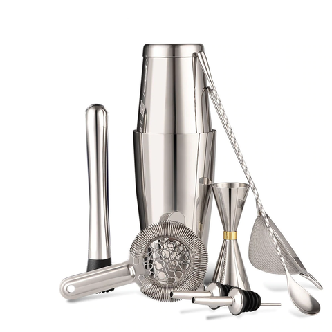 Slim heart cocktail shaker set