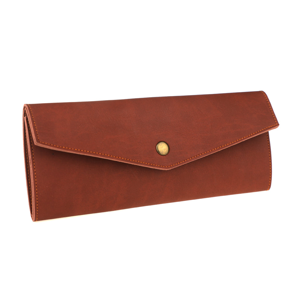 Minimalist Lightweight Synthetic Leather Long Wallet