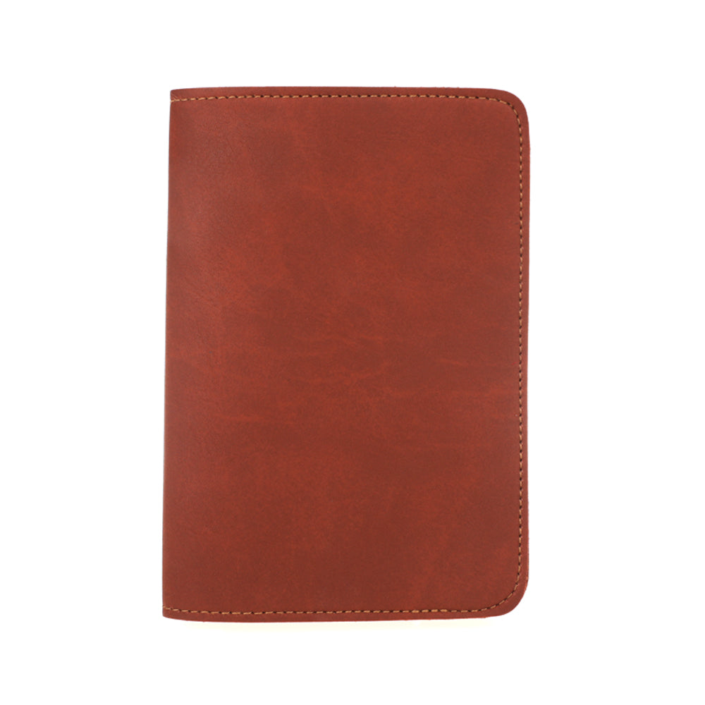 Brown Synthetic Leather Passport Holder
