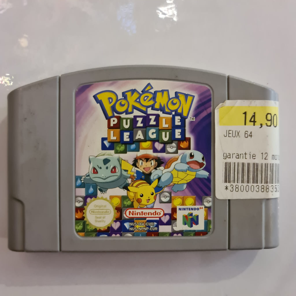 Jeu nintendo 64 pokemon puzzle league