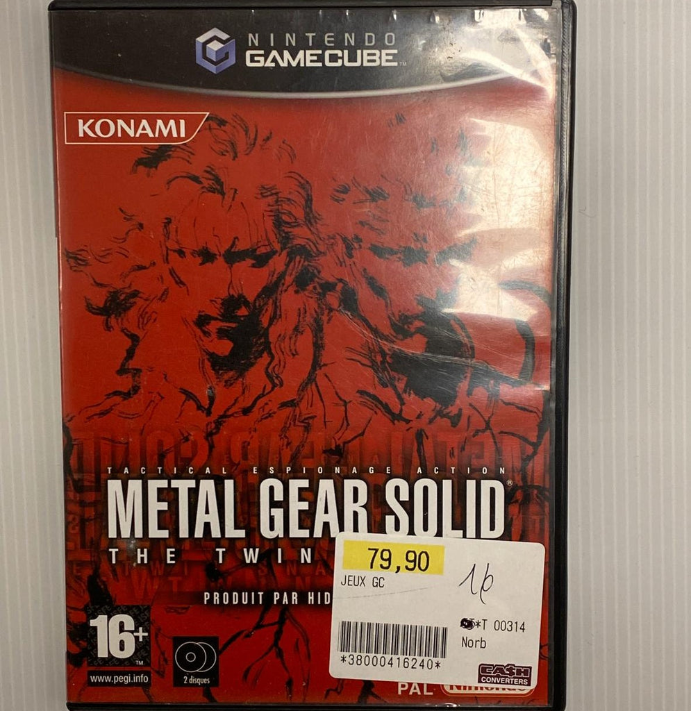 Jeu GameCube Metal Gear Solid the twin snakes