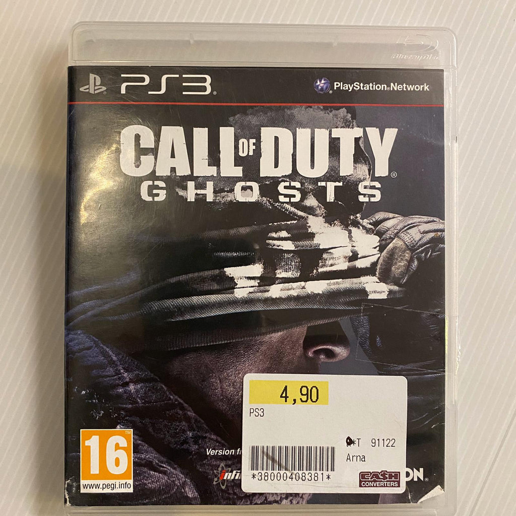 Jeu PS3 Call of duty Ghosts