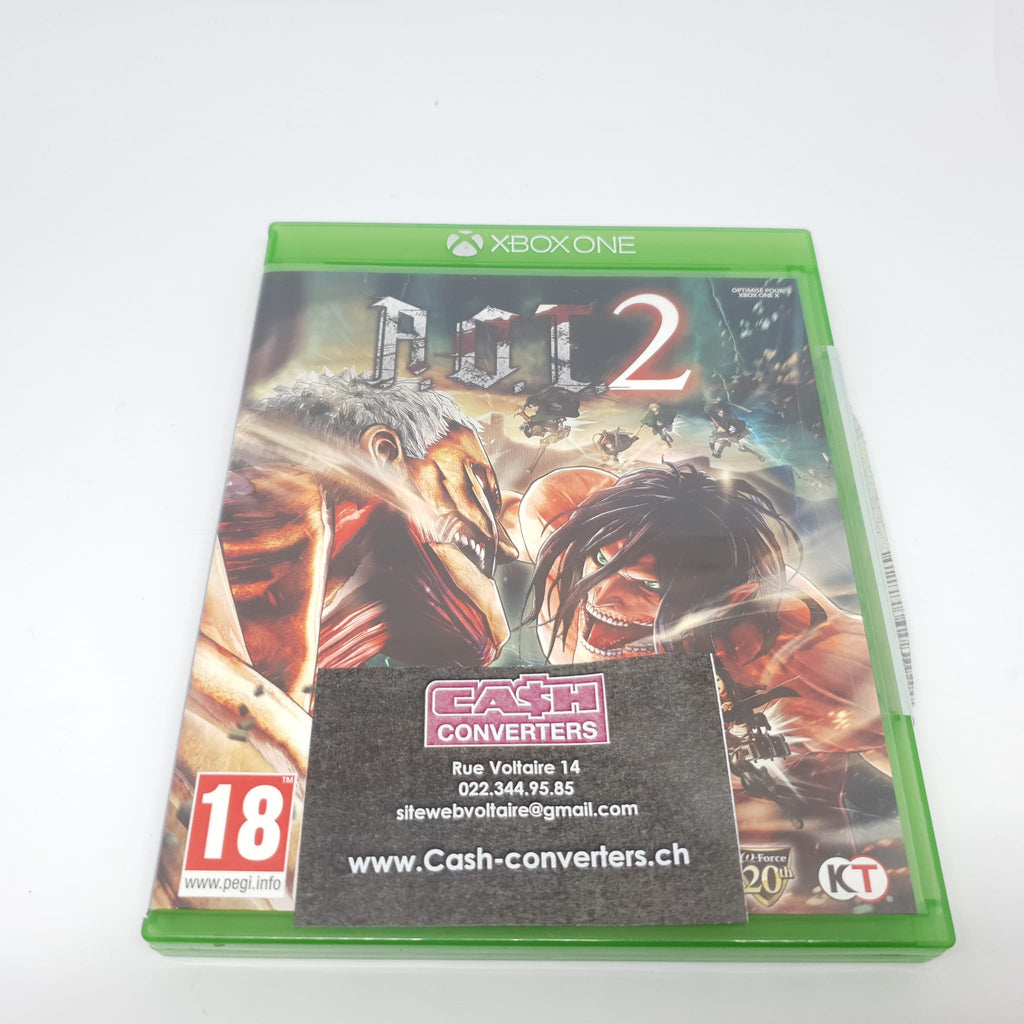 JEU XBOX ONE ATTACK ON TITAN 2