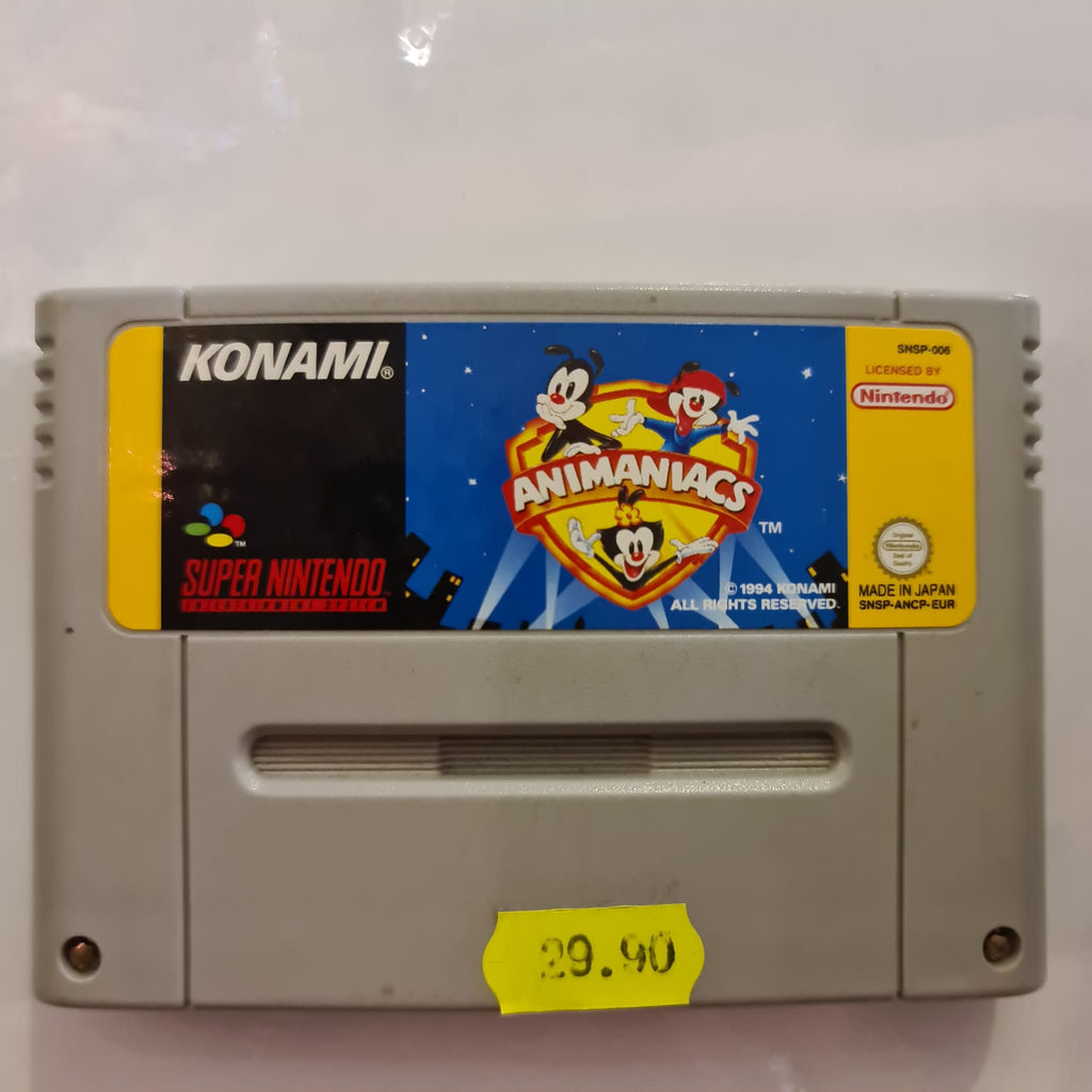 Jeu super nintendo Animaniacs