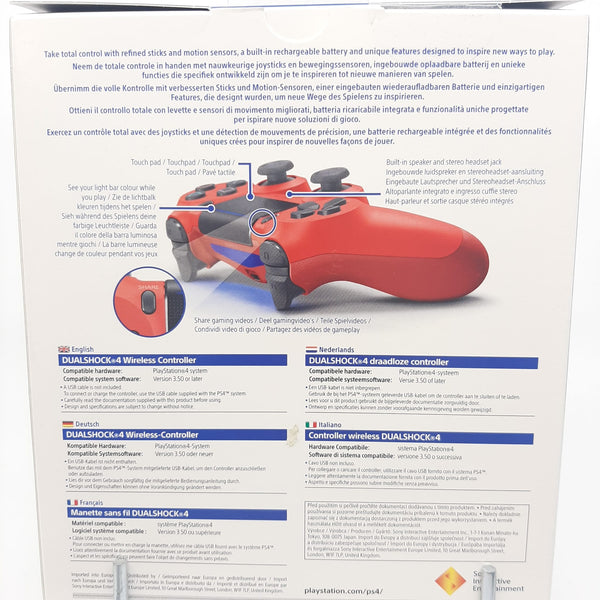Manette Ps4 Sony Bluetooth 1042 V2 Rouge