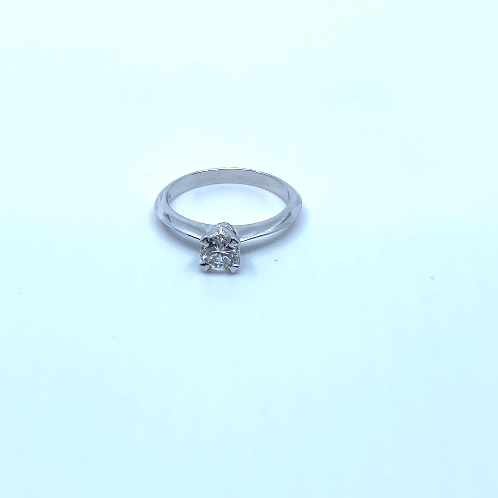 Bague en or 18k 3.4gr + dmt 0.5 carat T54