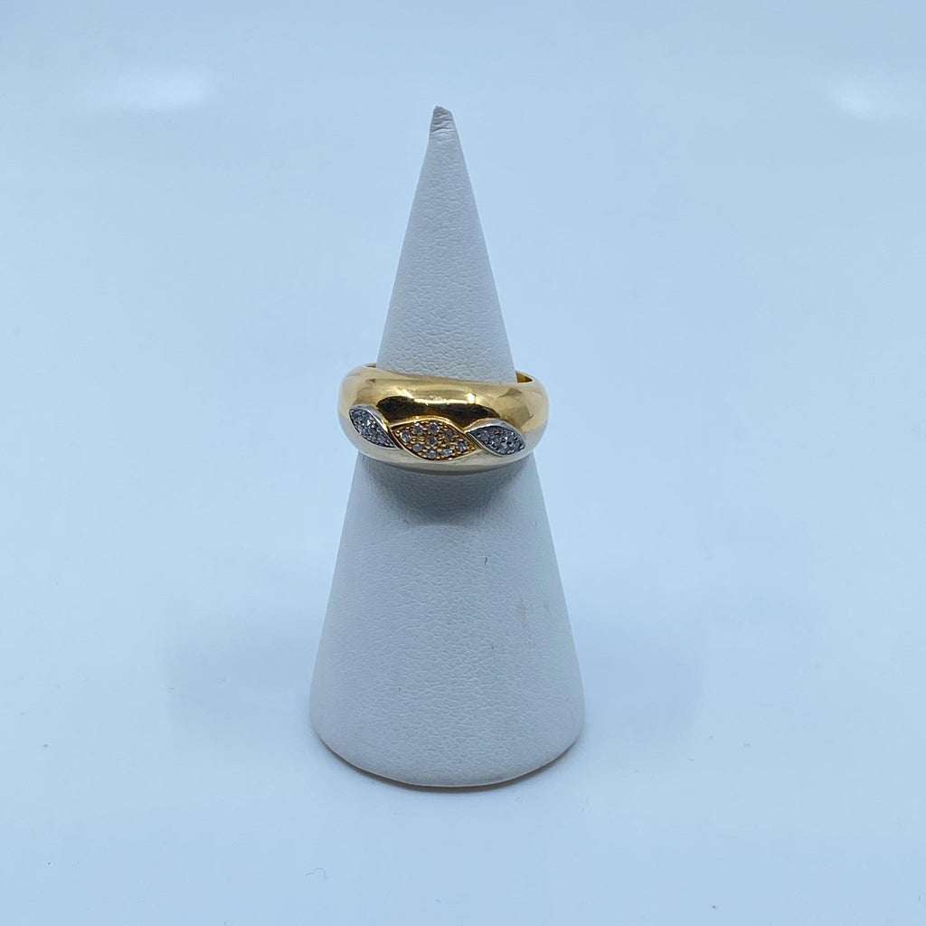 Bague en or 18k 7.9gr + dmt T51