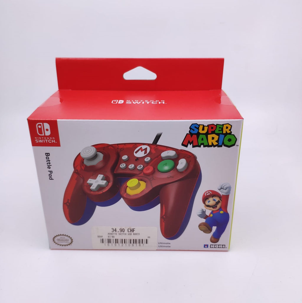 Manette Switch filaire Mario Icon