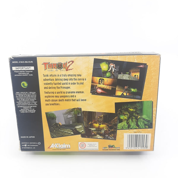 Jeu N64 Turok 2 full set notice