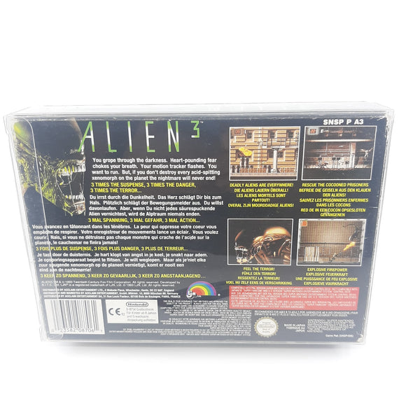 Jeu Super Nintendo Alien 3 full set notice